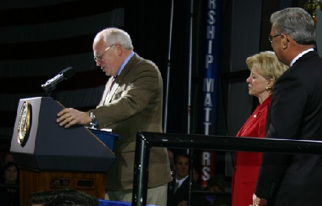 PVA with VP Cheney at Williamsport, PA rally